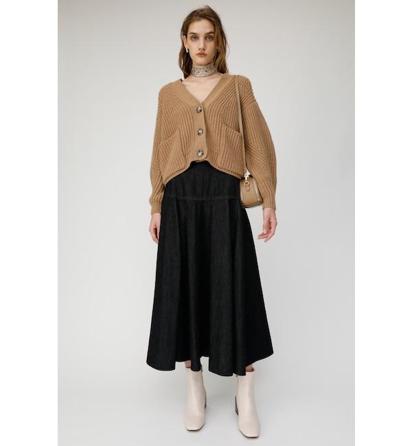 【マウジー/MOUSSY】 DENIM YOKE FLARE スカート