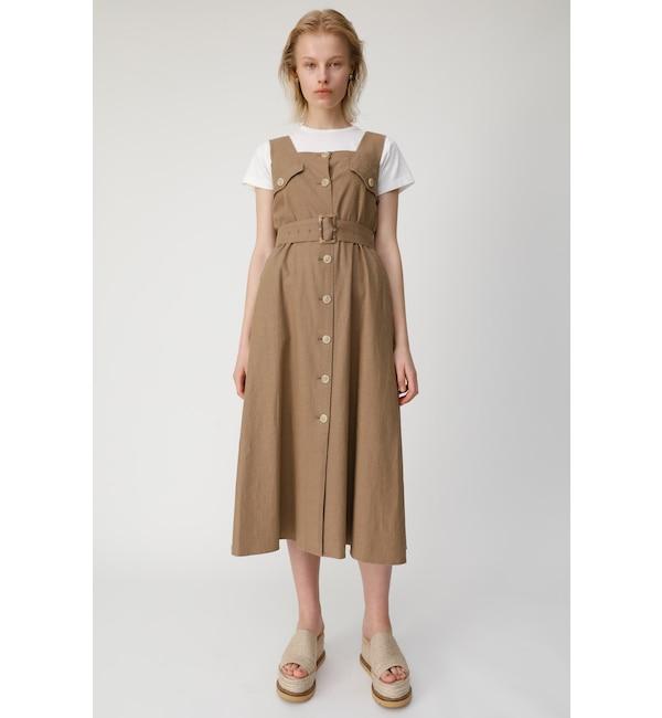【マウジー/MOUSSY】 BUTTON UP WAIST TIE ドレス