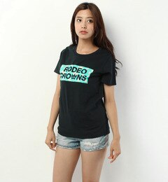 【ロデオクラウンズワイドボウル/RODEO CROWNS WIDE BOWL】 CITY SARF ボックス ロゴ Tシャツ [送料無料]
