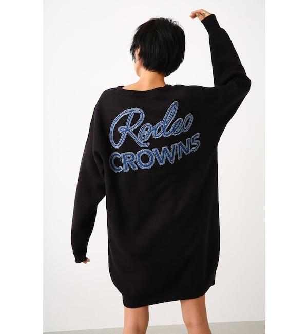 【ロデオクラウンズ/RODEO CROWNS】 ニットデニムポケットVネックワンピース
