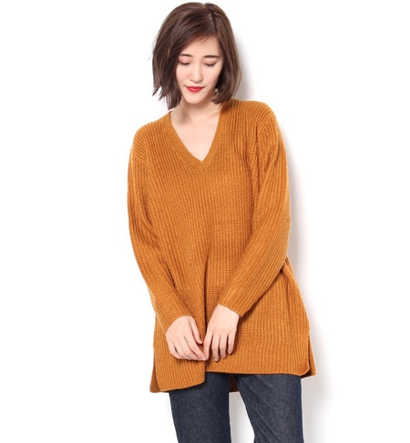 【スライ/SLY】 LOOSE V NECK MG TUNIC [送料無料]