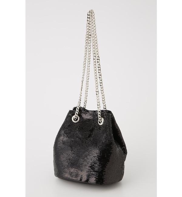 【スライ/SLY】 SHINY SEQUIN BAG
