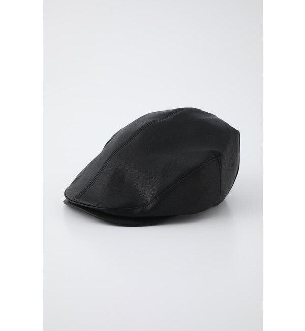 【ラグア ジェム/LAGUA GEM】 F/LEATHER HUNTING CAP