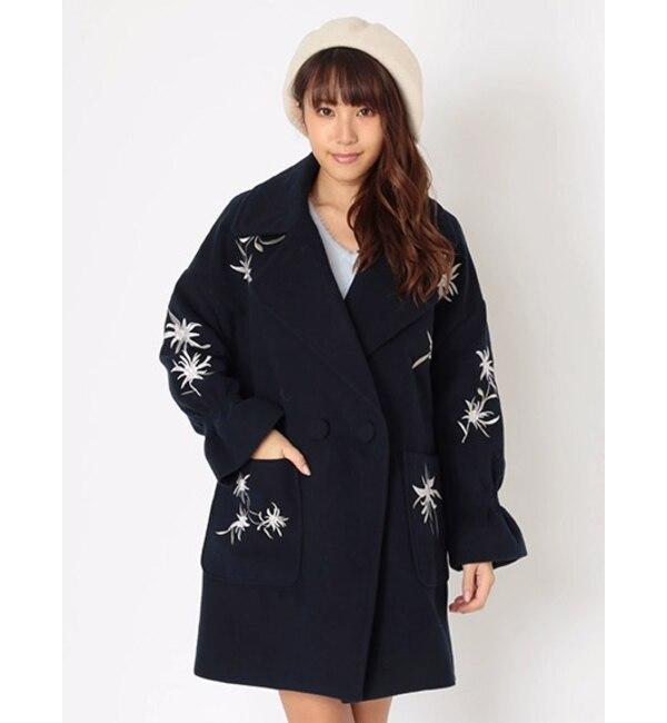 【セシルマクビー/CECIL McBEE】 刺繍ビックシルエットコート