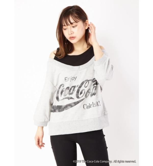 【セシルマクビー/CECIL McBEE】 「コカ・コーラ」コラボレイヤード風TOPS