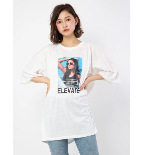 【セシルマクビー/CECIL McBEE】 BIGプリントTシャツ