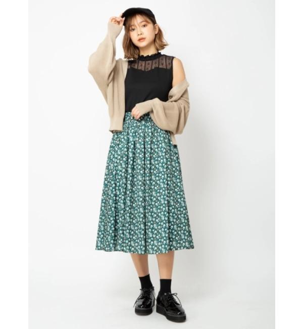 【セシルマクビー/CECIL McBEE】 フラワープリントスカート