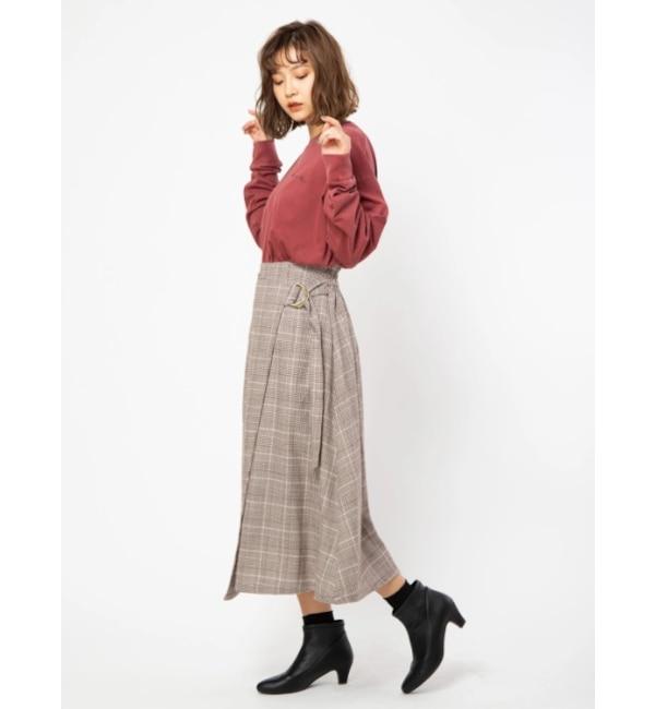 【セシルマクビー/CECIL McBEE】 Dカンラップスカート
