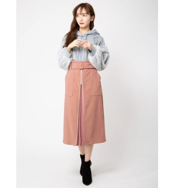 【セシルマクビー/CECIL McBEE】 2WayフロントZIPスカート