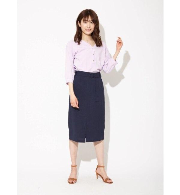 【ファビュラス アンジェラ/Fabulous Angela】 アウトポケットスリットタイトスカート