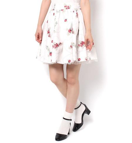 【アンクルージュ/Ank Rouge】 クロスローズウエストリボンSK [送料無料]