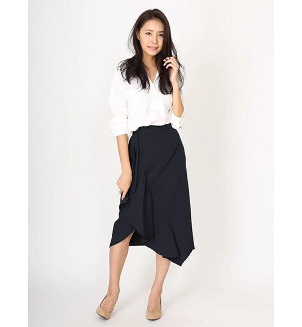 【ソフィラ/sophila】 ラッフルタイトスカート