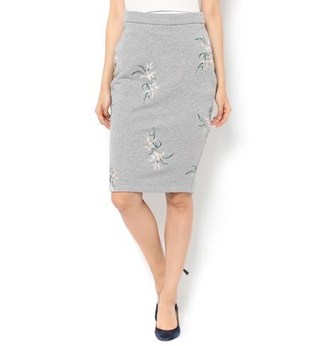 【ドロシーズ/DRWCYS】 【雑誌掲載】刺繍スウェットスカート [送料無料]