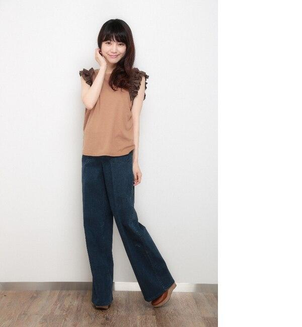 【マーブリー/Marblee】 【雑誌掲載】袖フリルカットソー [送料無料]