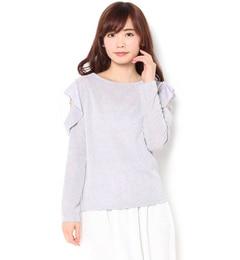 【マーブリー/Marblee】 肩あきフリルカットソー [送料無料]