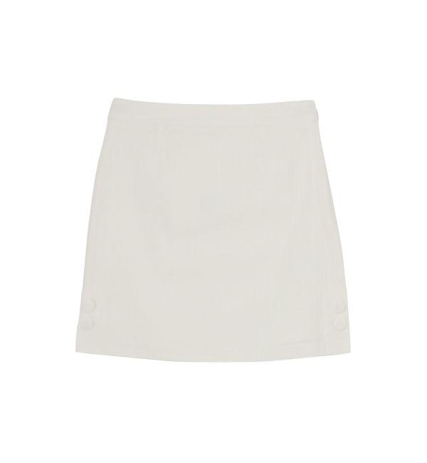 【ダズリン/dazzlin】 サイドボタン台形スカート