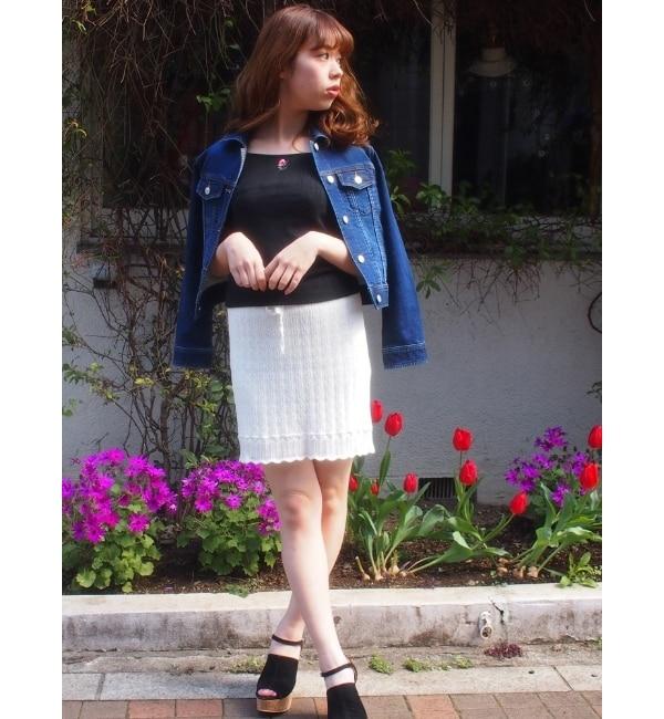 【ダズリン/dazzlin】 クロシェニットスカート