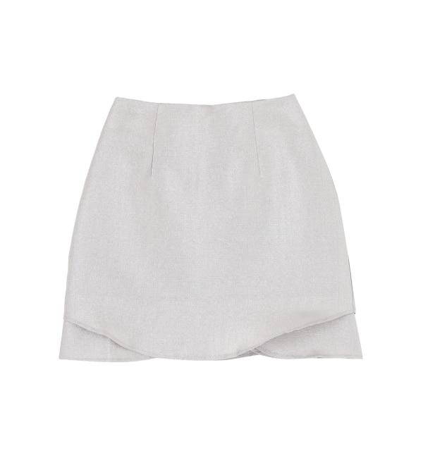 【ダズリン/dazzlin】 グリッター台形スカート
