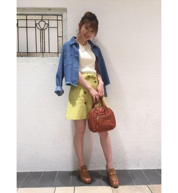 【ダズリン/dazzlin】 トレンチ風台形スカート