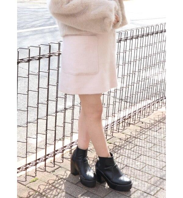 【ダズリン/dazzlin】 ビックポケットシャギーミニスカート