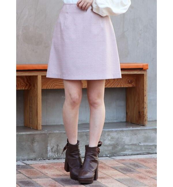 【ダズリン/dazzlin】 ギンガムチェックミニ台形スカート