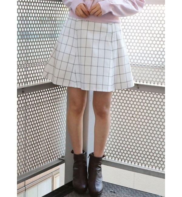 【ダズリン/dazzlin】 バックルフレアミニスカート