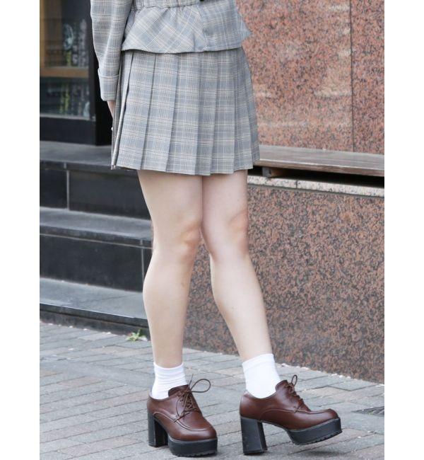 【ダズリン/dazzlin】 ラッププリーツ台形ミニスカート