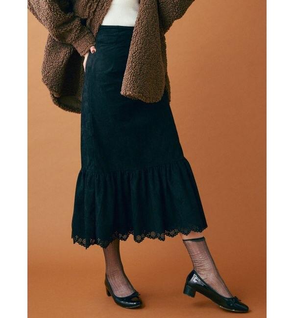 【ダズリン/dazzlin】 スウェードライクラップマーメイドスカート