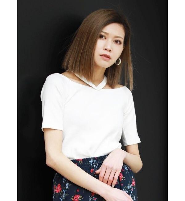 【エモダ/EMODA】 WストラップフィットTシャツ