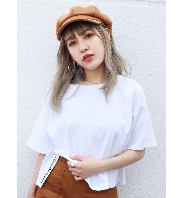 【エモダ/EMODA】 サイドスリットロゴTシャツ