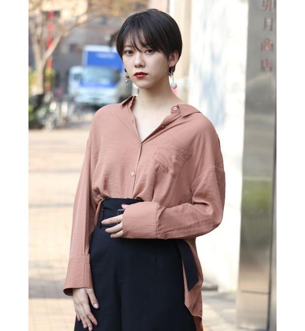 【ムルーア/MURUA】 アシメバックベルトシャツ
