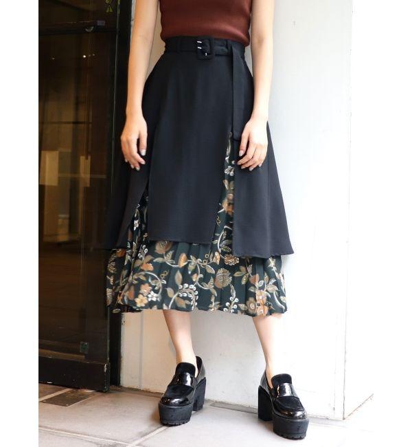 【ムルーア/MURUA】 Emily flowerレイヤードスカート