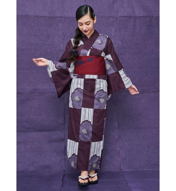 【ムルーア/MURUA】 浴衣セット【市松+椿】