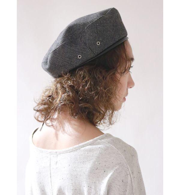 【アングリッド/Ungrid】 チェックベレー帽