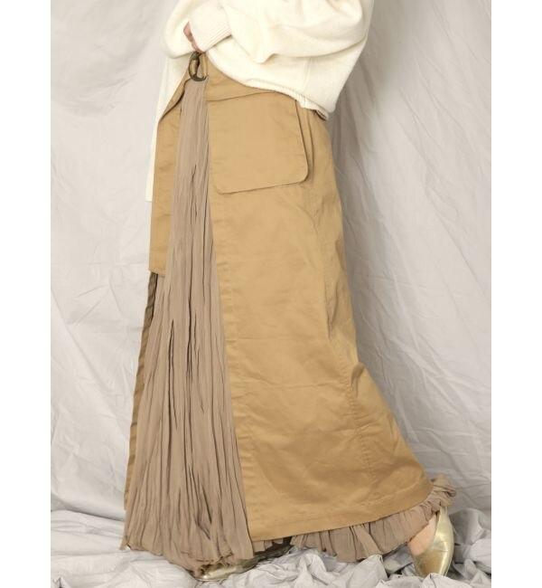 【アングリッド/Ungrid】 ミリタリーラップスカート