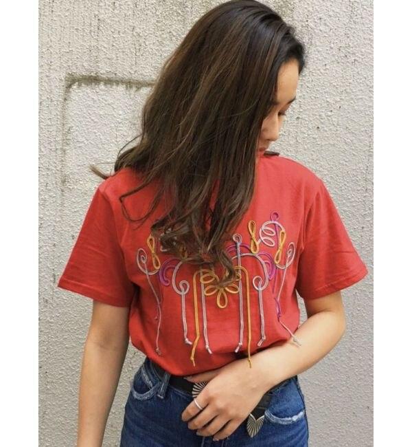【エヴリス/EVRIS】 カラーコード刺繍Tシャツ