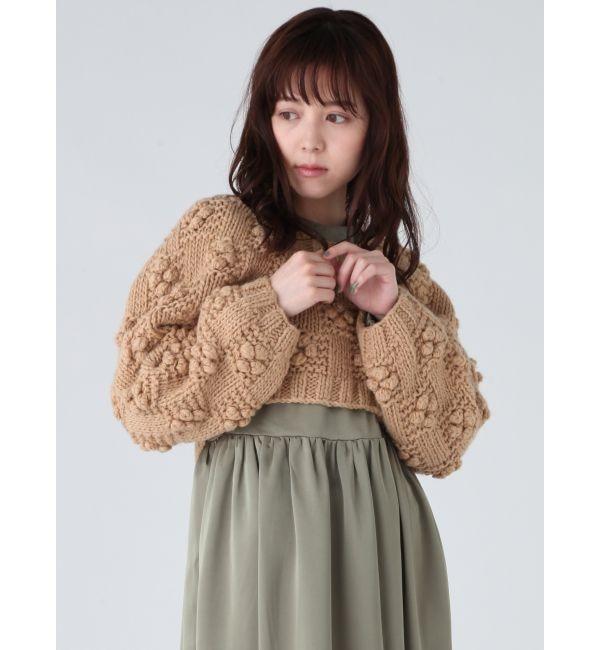 【メリージェニー/merry jenny】 ルーズショートニット