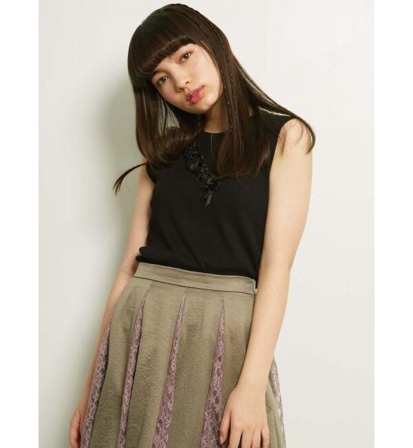 【メリージェニー/merry jenny】 ribbon summer knit