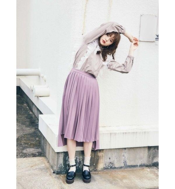 【メリージェニー/merry jenny】 Backフレアプリーツスカート