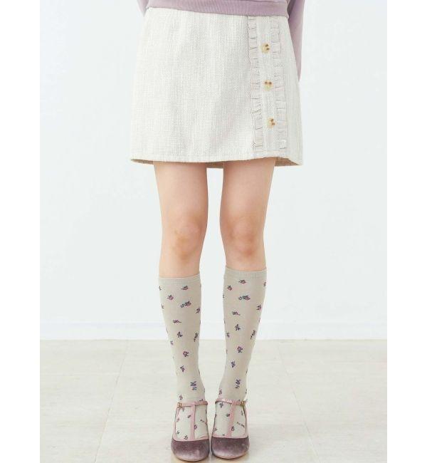 【メリージェニー/merry jenny】 ツイードミニスカート