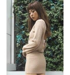 【ジェイダ/GYDA】 BACK OPENタイトニットワンピース [送料無料]