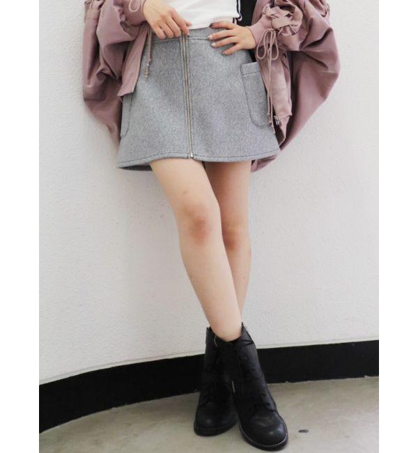 【ジェイダ/GYDA】 【WEB限定】フロントZIPスカートライクショートパンツ