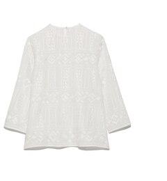 【ミラオーウェン/Mila Owen】 七分袖刺繍ブラウス [送料無料]