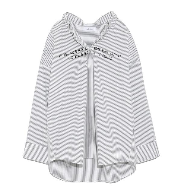 【ミラオーウェン/Mila Owen】 ワイドシルエットストライプシャツ