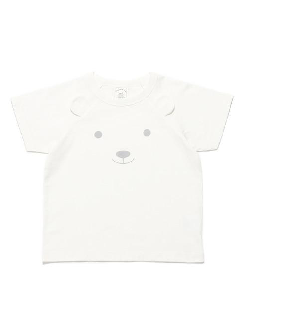【ジェラート ピケ/gelato pique】 クマパイルワンポイント kids Tシャツ [送料無料]