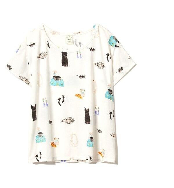 3ガールズTシャツ【ジェラート ピケ/gelato pique レディス ルームウェア OWHT ルミネ LUMINE】