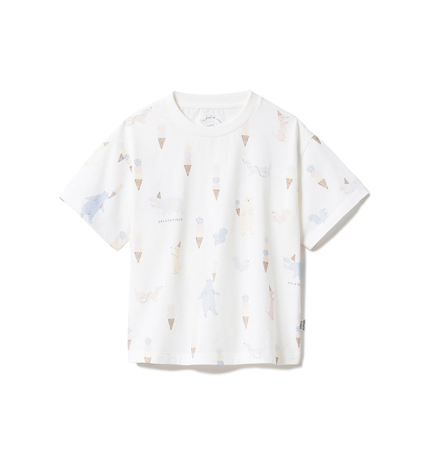 【ジェラート ピケ/gelato pique】 【KIDS】アイスクリームアニマル kids Tシャツ