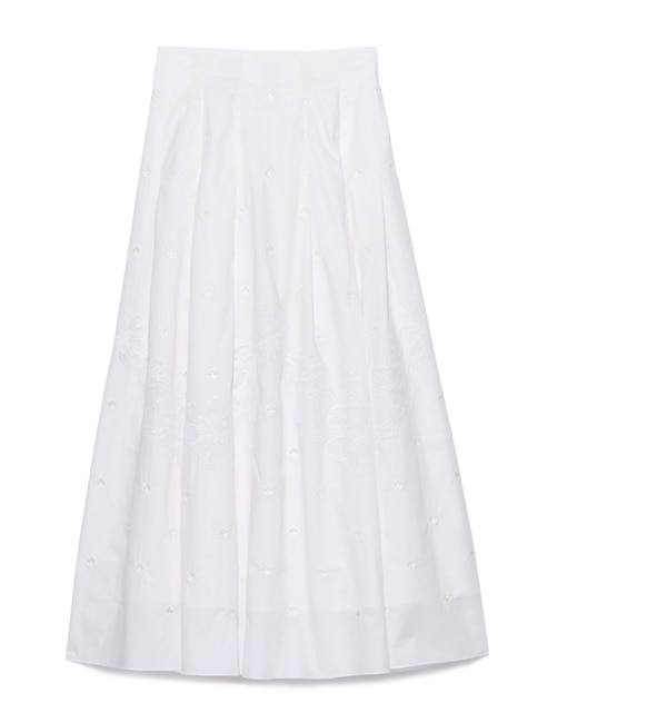 【スナイデル/snidel】 オーガンジー刺繍スカート [送料無料]