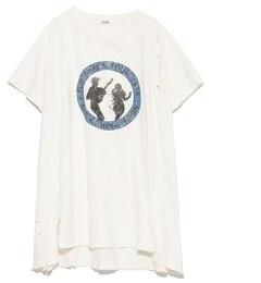 【スナイデル/snidel】 ハンドダメージデザインプリントTシャツ [送料無料]