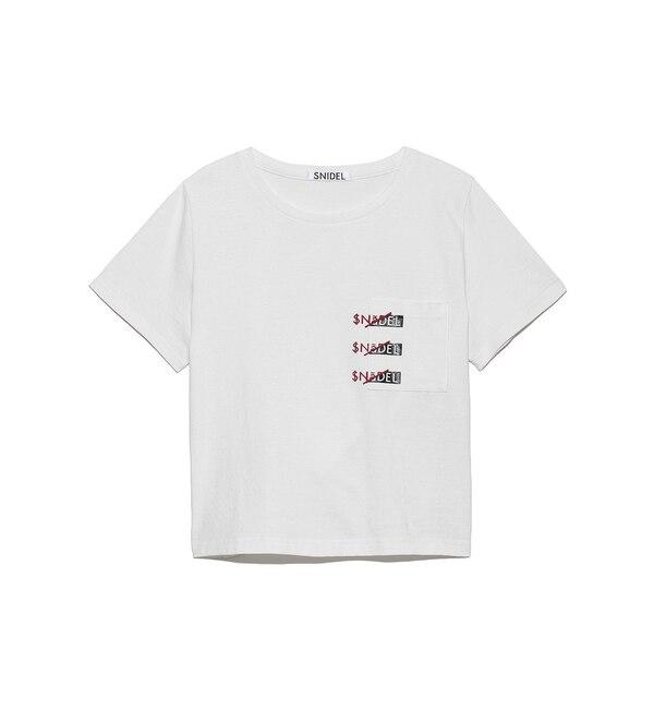 【スナイデル/SNIDEL】 SNIDELロゴポケットTシャツ